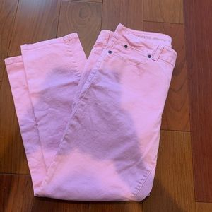 Talbots Cropped Pink Jean